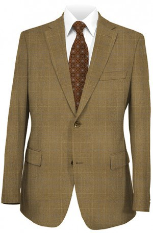 Concorde Medium Brown Windowpane Sportcoat V12835.