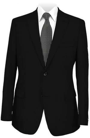 Gruppo Bravo Black Solid Color Suit #V83823-1