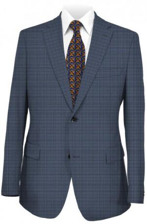 Varvatos Blue Fine Check Slim Fit Suit VCW0204