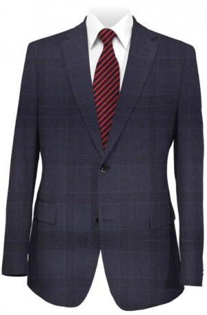 Varvatos Slim Fit Blue Pattern Suit VIW0121