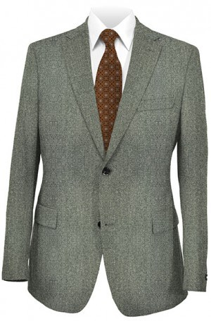 Varvatos Gray Wool-Silk Tailored Fit Sportcoat #VWW0008