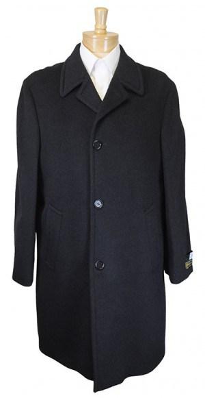 Saks Charcoal Pure Cashmere Italian Topcoat #X520-64