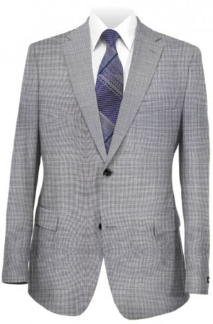 Austin Reed Gray Sharkskin Suit #ZAA0010