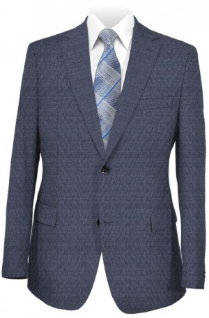 Austin Reed Blue Pattern 3-Piece Tailored Fit Suit #ZBA0022