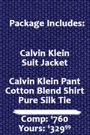 Calvin Klein Blue sharksin suit separates - Package