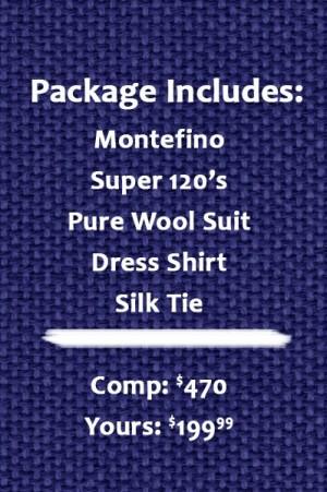 Montefino Navy Suit Package