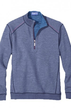 Tommy Bahama Blue Flipsider 1/4-Zip Reversible Pullover