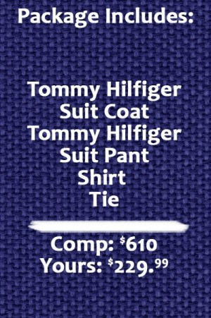 Tommy Hilfiger  Medium Grey Pure Wool Suit Separates - Package
