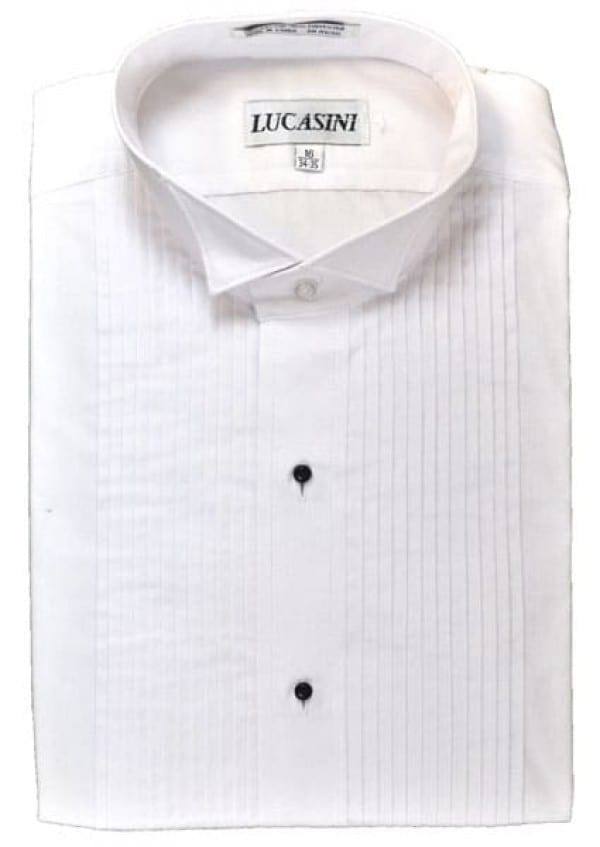 Cotton Blend Wing Collar Formal Shirt