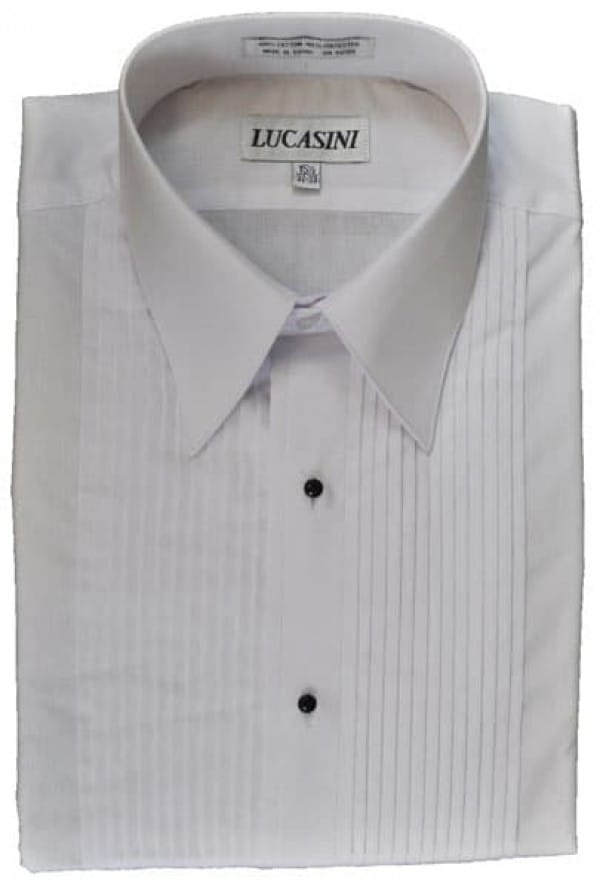 Cotton Blend Laydown Collar Formal Shirt