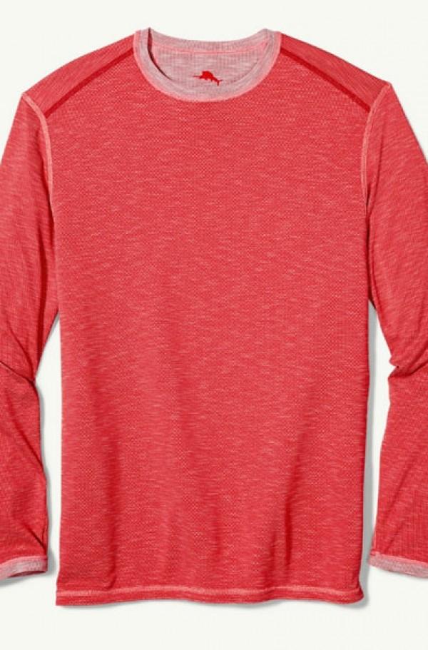 4a516f39d0e8 Tommy Bahama Soft Red Flip Tide Reversible Long Sleeve T-Shirt ...