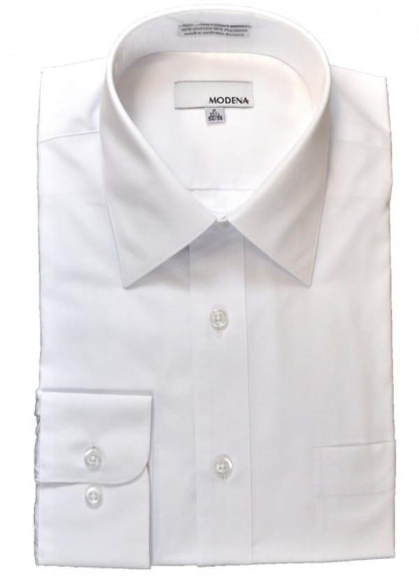 White cotton blended shirt