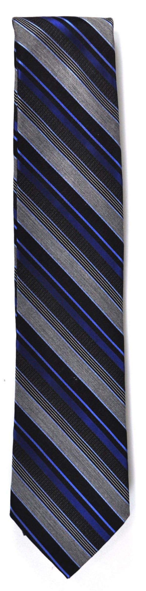 Pure silk blue stripe tie