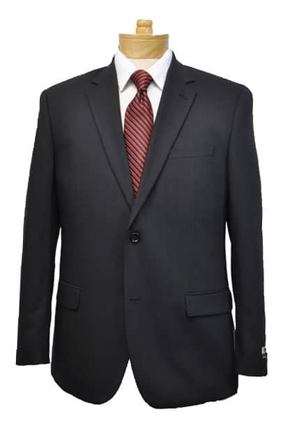 Pure Wool Solid Black Suit Package