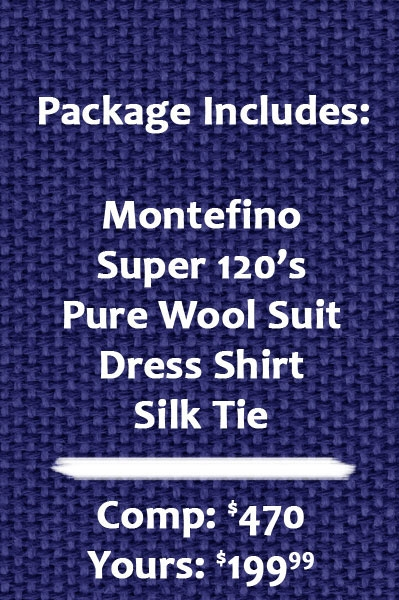 Solid Navy Blue Suit Package